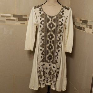 Nwt Johnny Was embroidered tunic dress size S